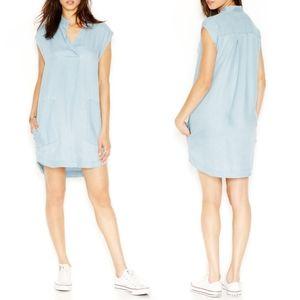 RACHEL Rachel Roy Oversized Chambray shift Dress